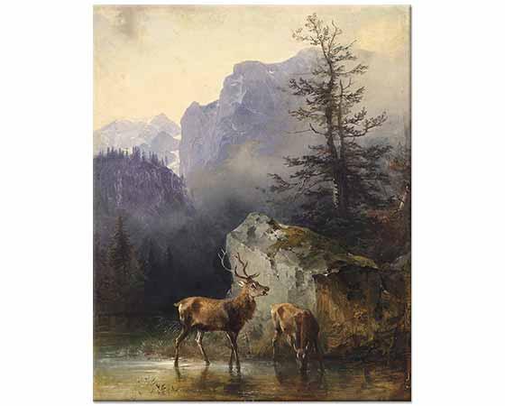 Friedrich Gauermann Geyik
