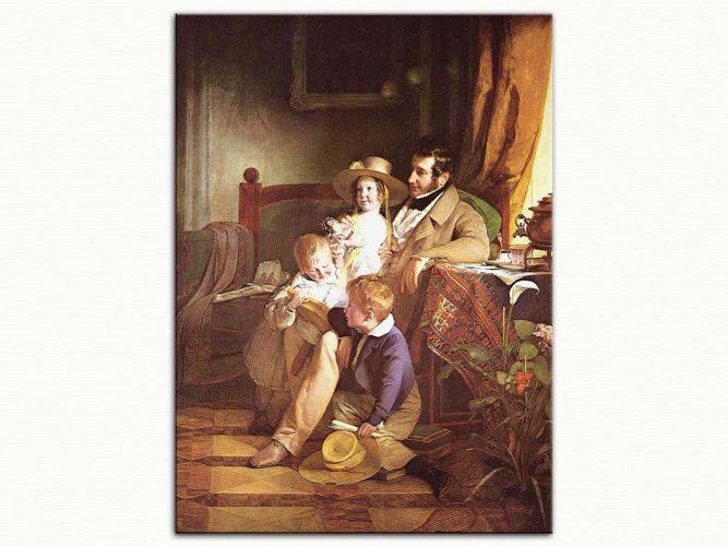 Friedrich von Amerling Rudolf von Arthaber ve Çocukları