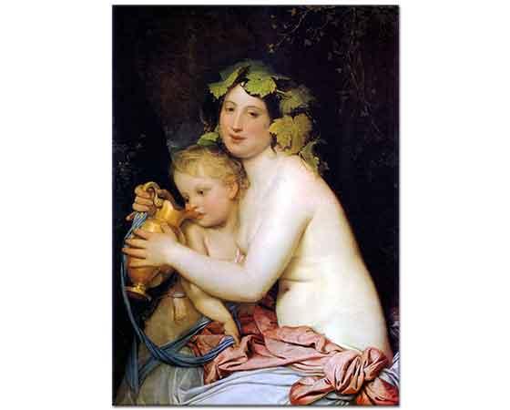 Fyodor Bruni Cupid Bachant'a içirirken