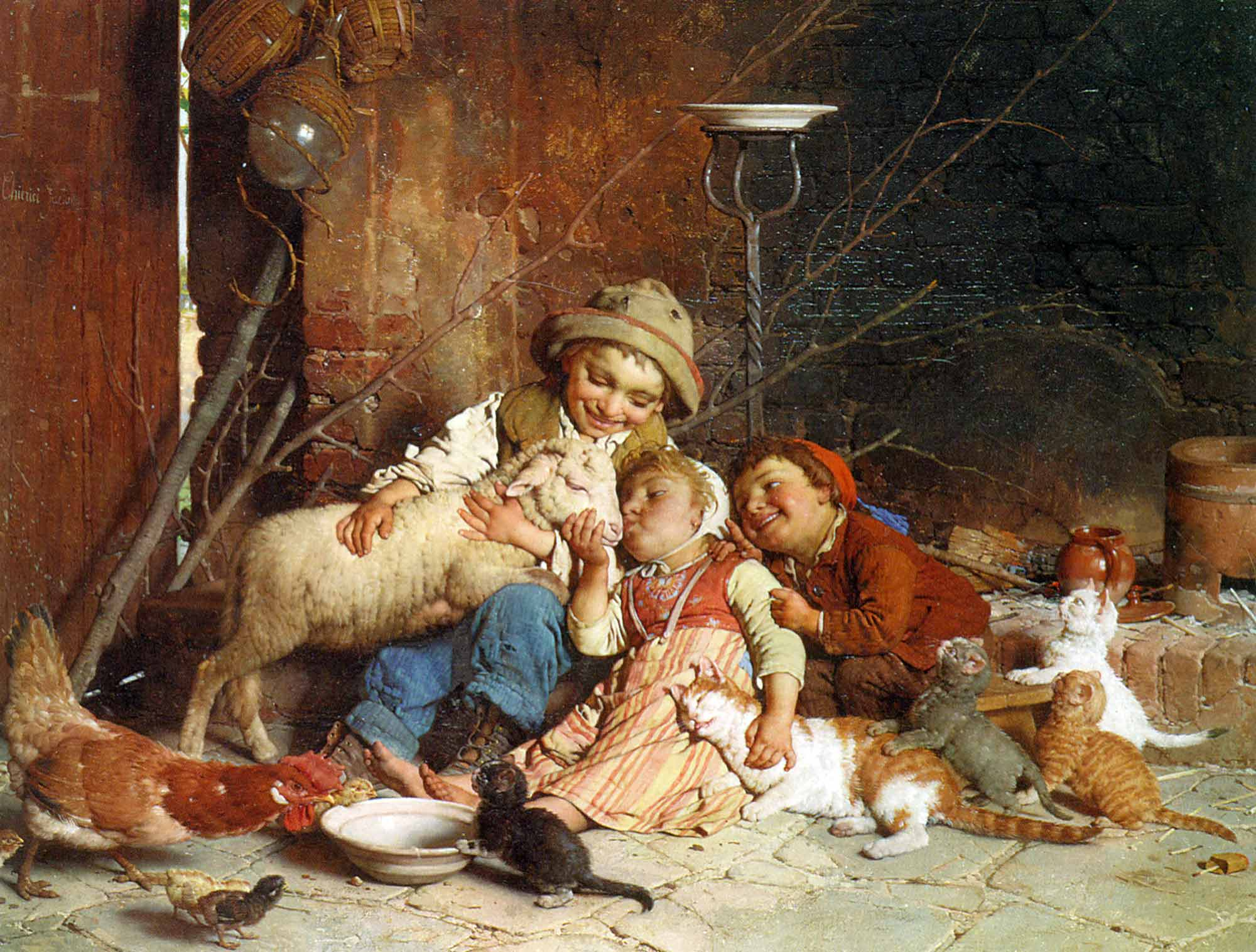 Gaetano Chierici Avludaki Afacanlar