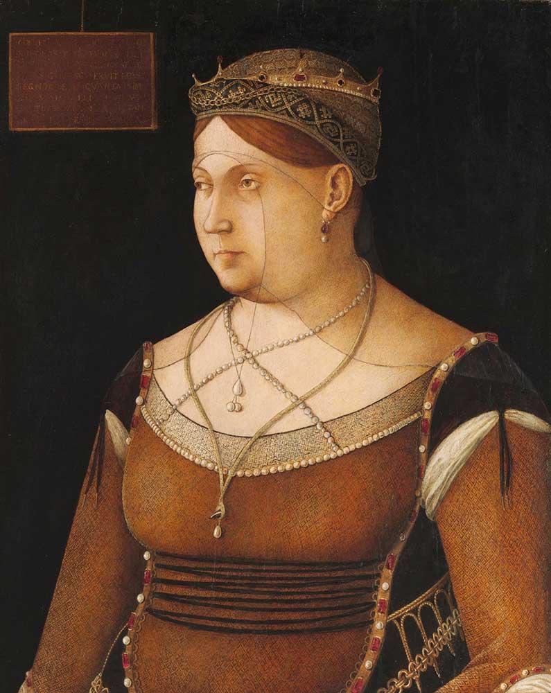 Gentile Bellini Kıbrıs Kraliçesinin Portresi