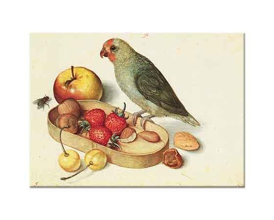Georg Flegel Kuş ve Meyveli Natürmort