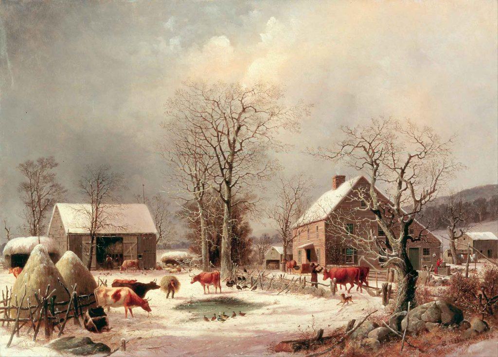 George Henry Durrie, Çiflikte Kış