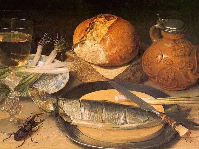 Georg Flegel Balıklı Natürmort tablosu