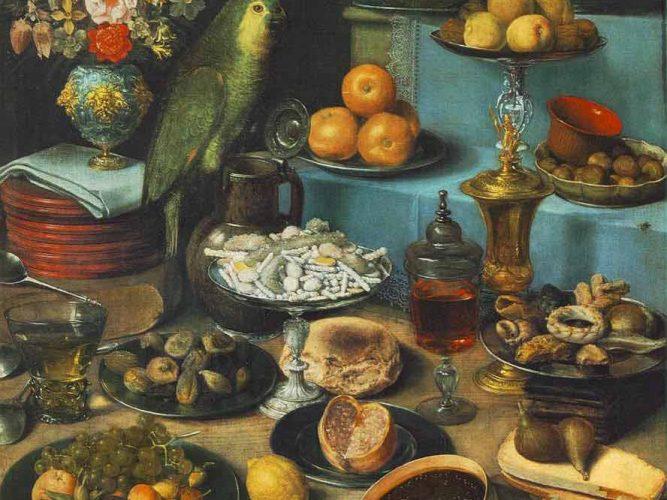 Georg Flegel Papağanlı Natürmort