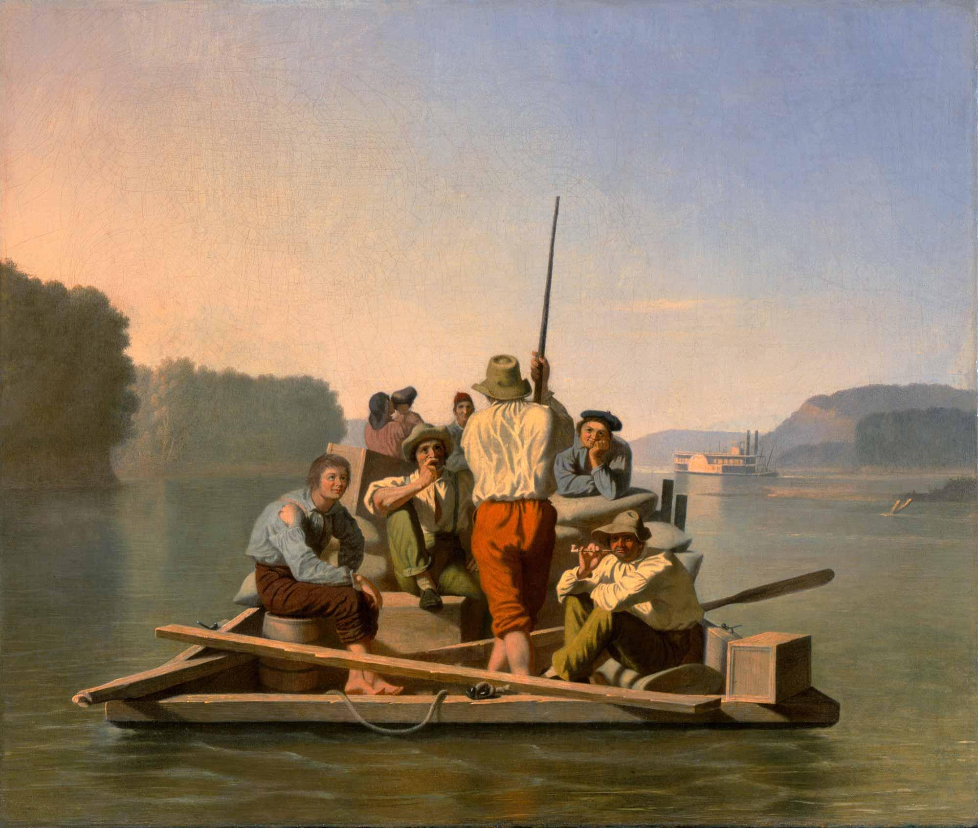 George Caleb Bingham Salda Yavaşça Gidiş