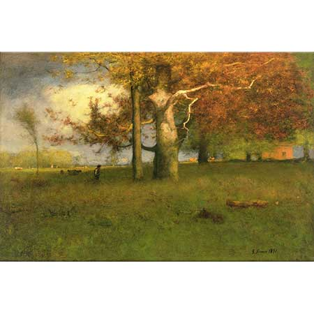 George Inness Ulu Ağaç Montclair