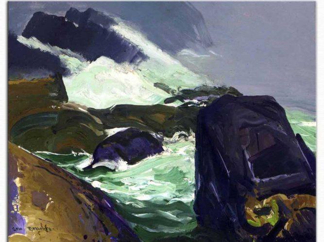 George Wesley Bellows Kayalara Çarpış