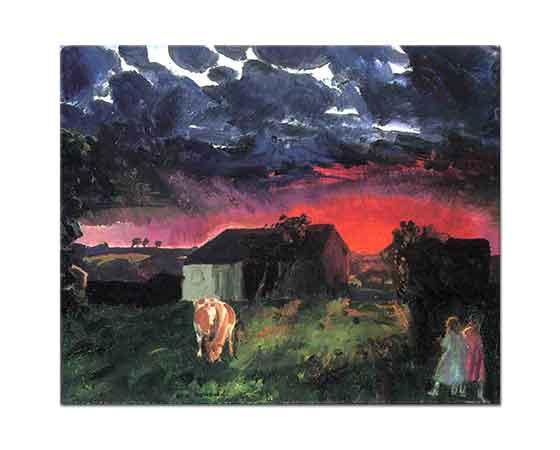 George Wesley Bellows Kırmızı Güneş