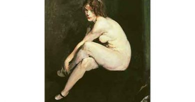 George Wesley Bellows Miss Leslie Hall