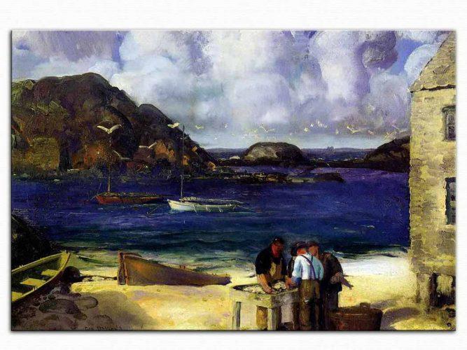 George Wesley Bellows Monhegan Limanında Balıkçılar