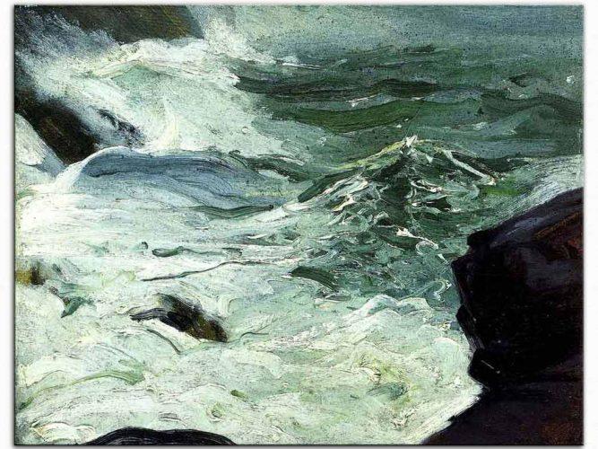 George Wesley Bellows Monhegan Kayalıkları