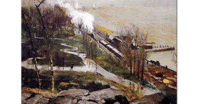 George Wesley Bellows Nehir Kıyısında Yağmur