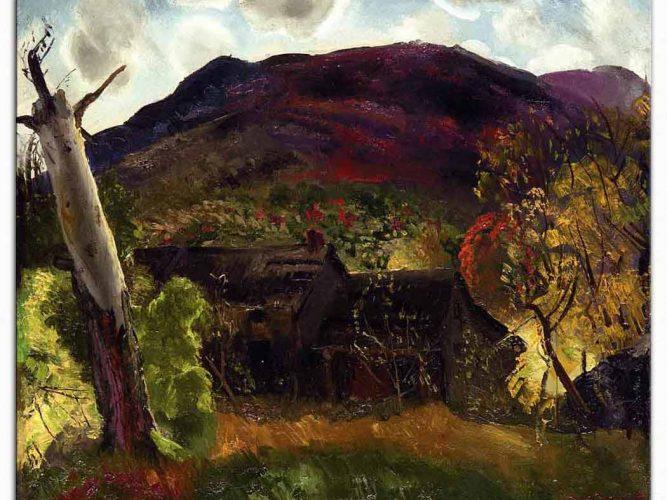 George Wesley Bellows Ölü Ağaç ve Yıkık Ev