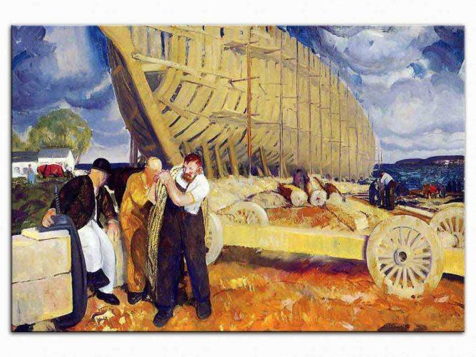 George Wesley Bellows Rope Biraderler Gemi inşasında