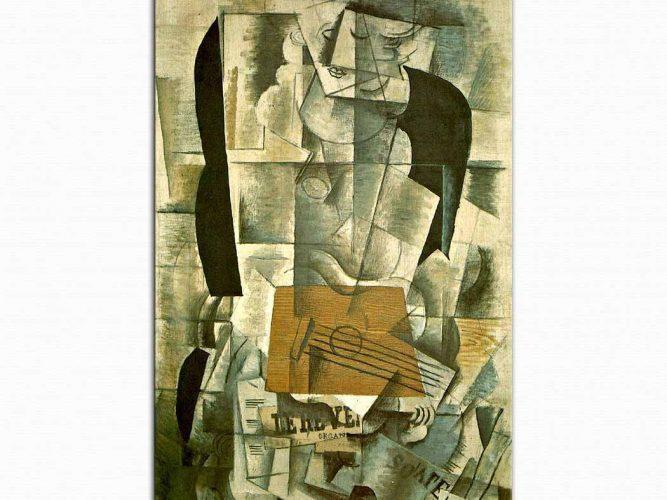 Georges Braque Gitarlı Bayan