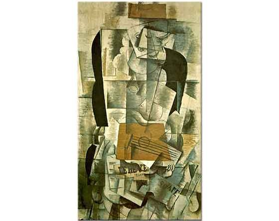Georges Braque Gitarlı Kadın