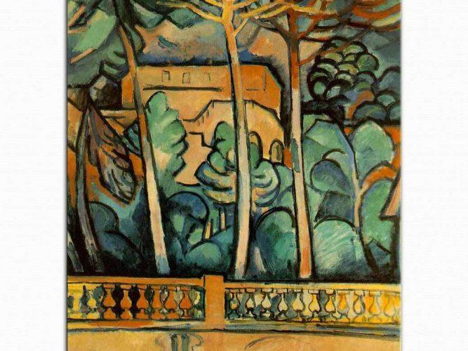 Georges Braque Hotel Mistral in Terası