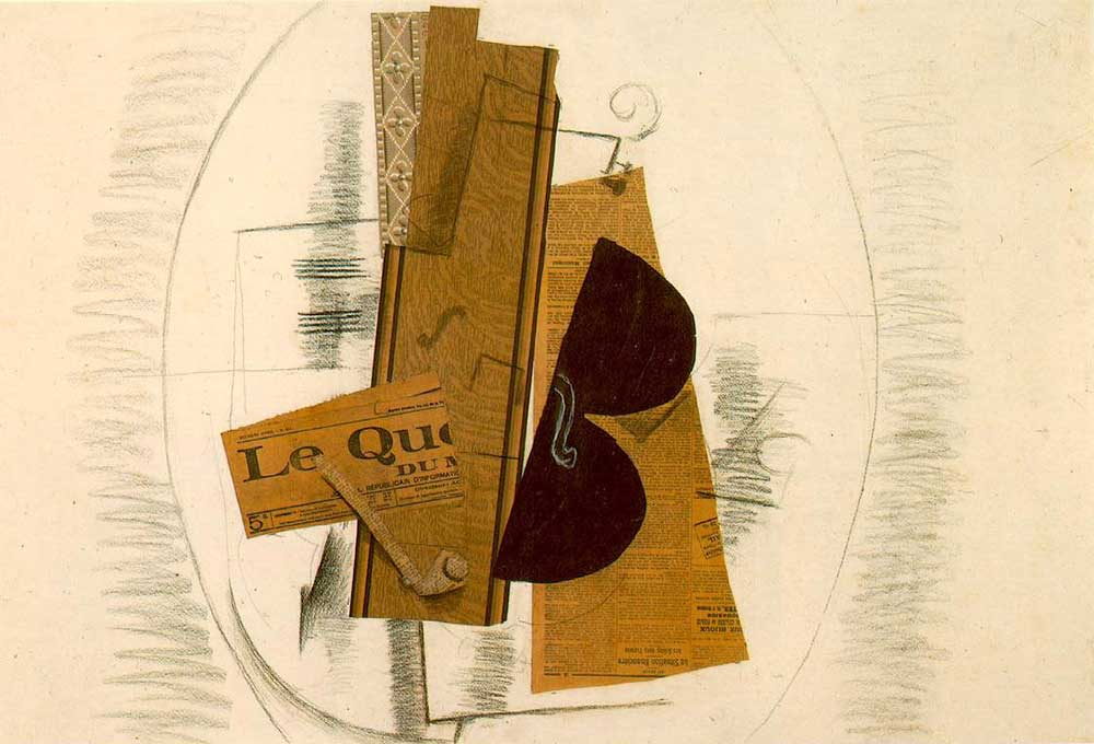 Georges Braque Keman ve Pipo