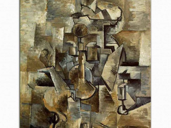 Georges Braque Keman ve Şamdan