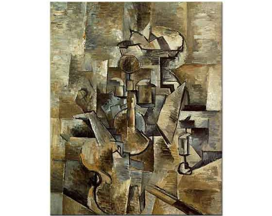 Georges Braque Keman ve Şamdan