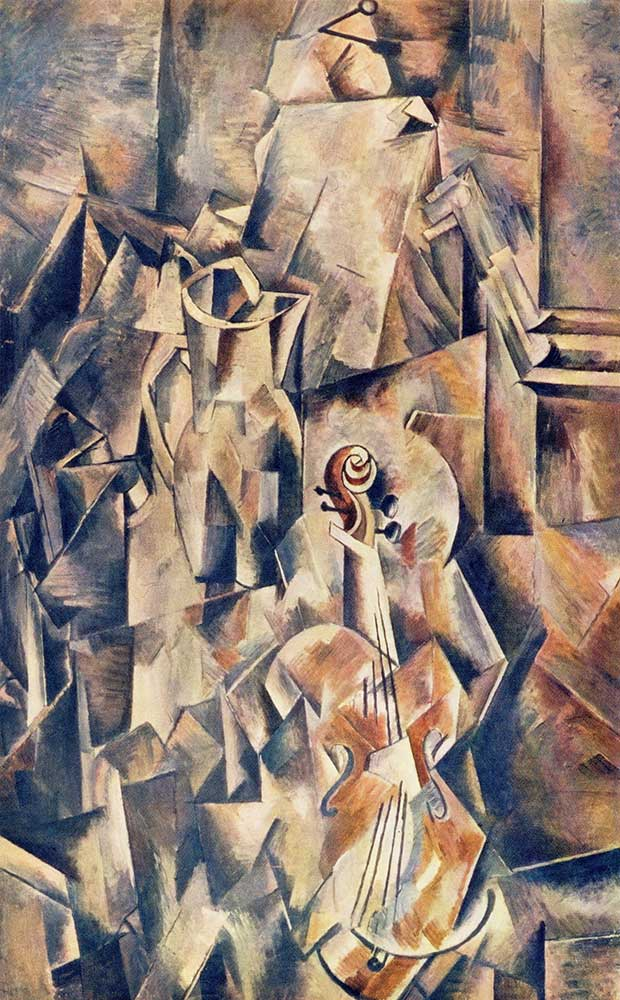 Georges Braque Keman ve Sürahi