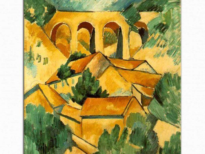 Georges Braque L'Estaque'de Viyadükt