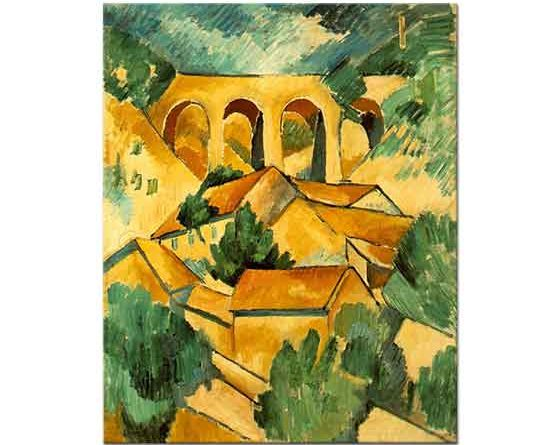 Georges Braque L'Estaque'de Viyadükt