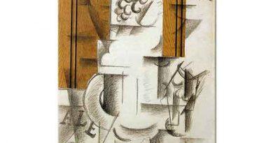 Georges Braque Meyve Tabağı ve Bardak