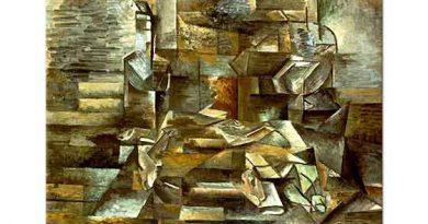 Georges Braque Şişe ve Balıklar