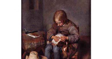 Gerard ter Borch Köpeğini Temizleyen Çocuk
