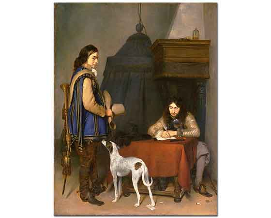 Gerard ter Borch Mektup Yazan Memur ve Trompetçi
