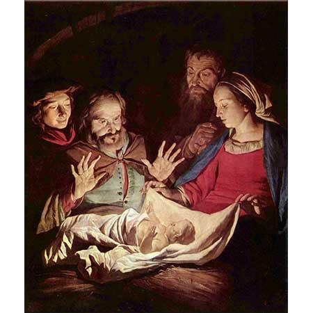 Gerard van Honthorst Çobanların Tazimi