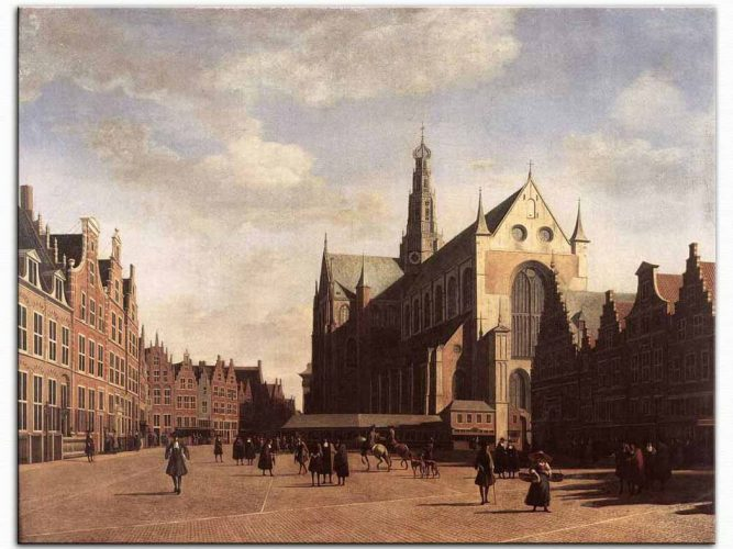 Gerrit Adriaensz Berckheyde Haarlem Pazar Meydanı