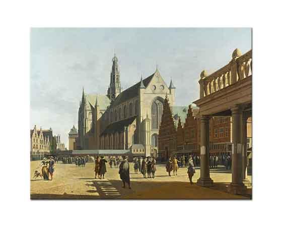 Gerrit Adriaensz Berckheyde Pazar Yeri ve Büyük Kilise Haarlem