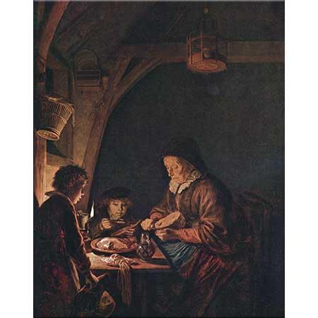 Gerrit Dou Aile Sofra Başında