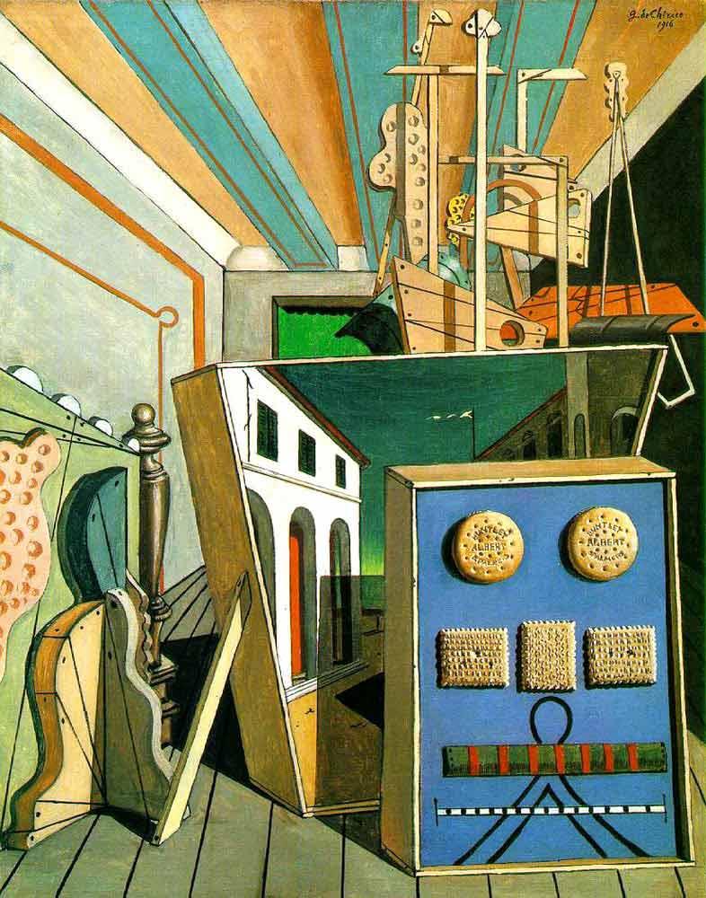 Giorgio de Chirico Metafiziksel Derinlik ile Bisküviler