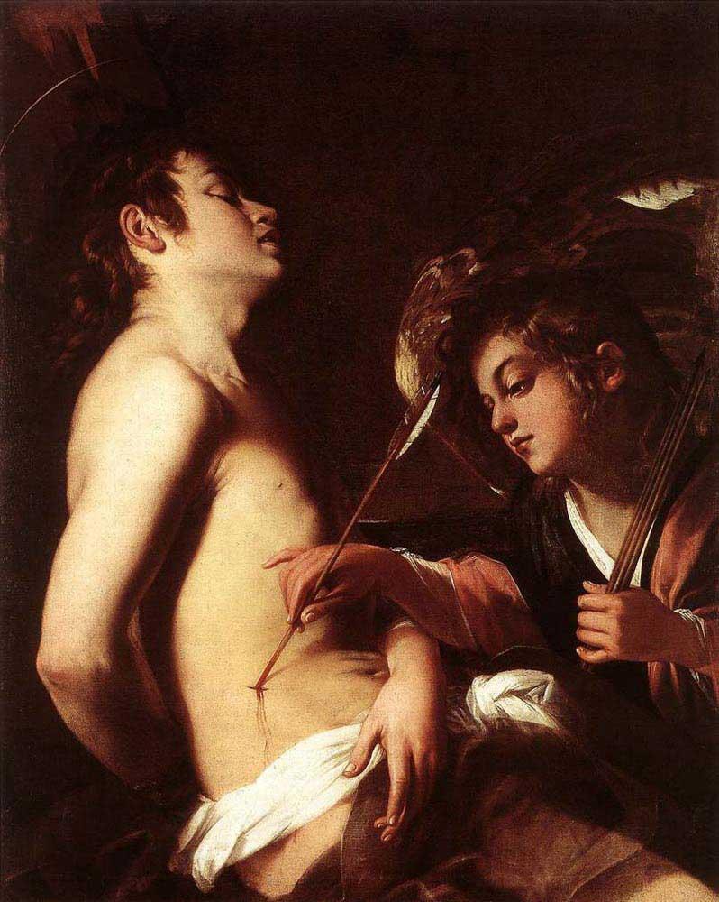 Giovanni Baglione Meleğin St Sebastian'ı Tedavi Edişi
