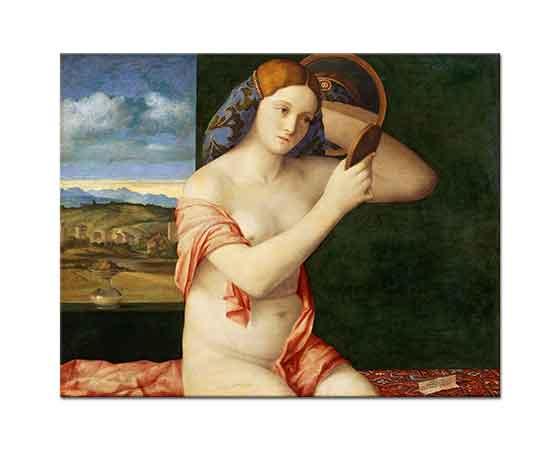 Giovanni Bellini Genç Kadın Ayna Önünde