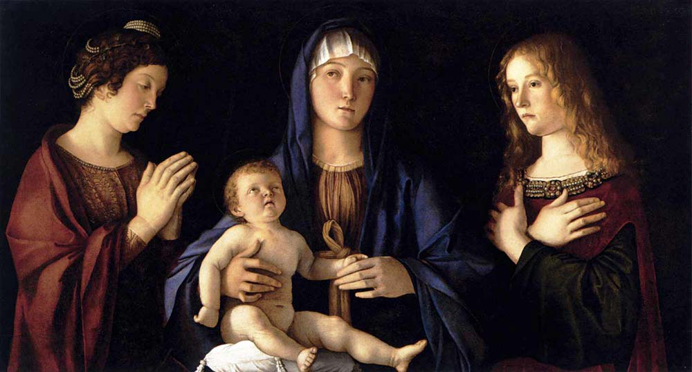 Giovanni Bellini Madonna ve iki Azize
