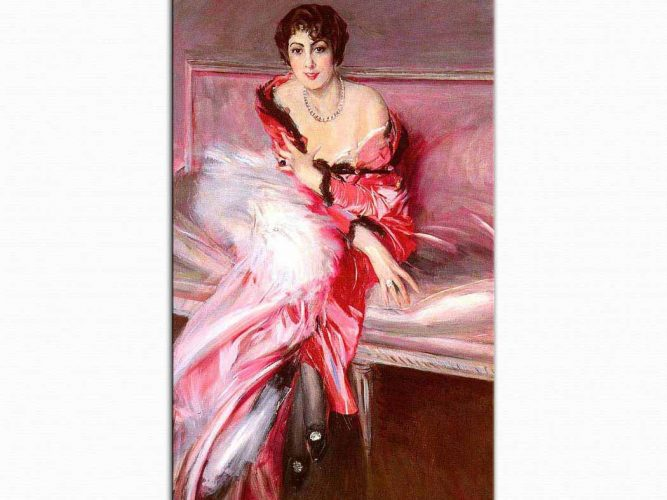 Giovanni Boldini Kırmızılar içinde Madam Juillard'ın Portresi