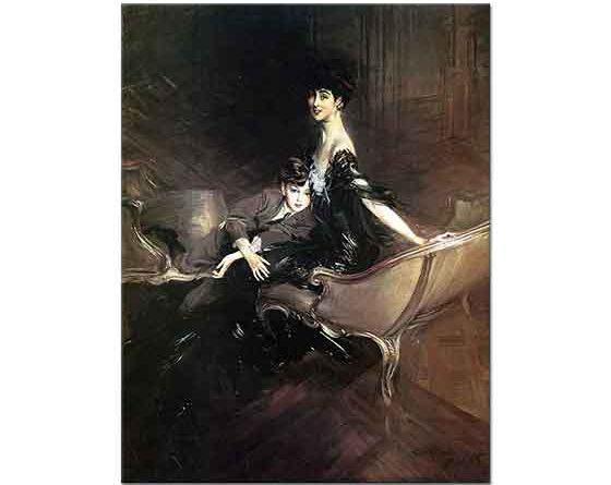 Giovanni Boldini Marlborough Düşesi ve Oğlu