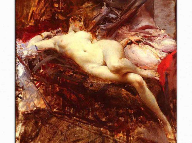 Giovanni Boldini Uzanmış Nü