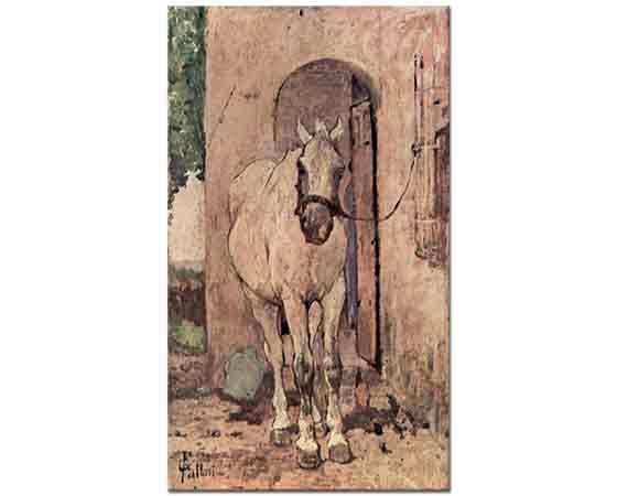 Giovanni Fattori Kapı önünde Beyaz At