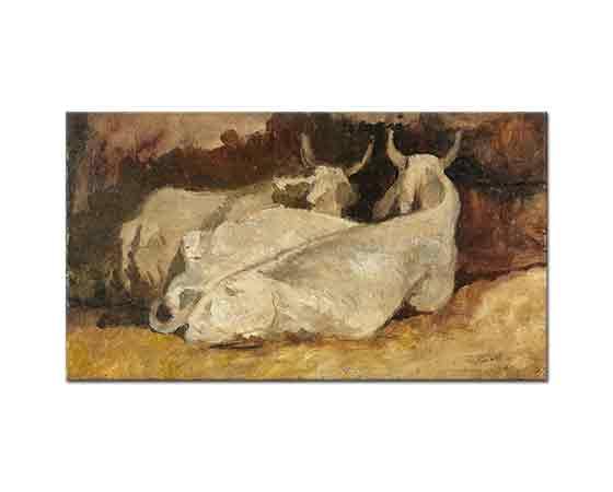 Giovanni Fattori Yatan inekler