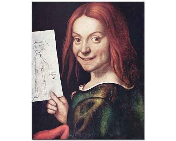 Giovanni Francesco Caroto Elinde Çizim ile Çocuk