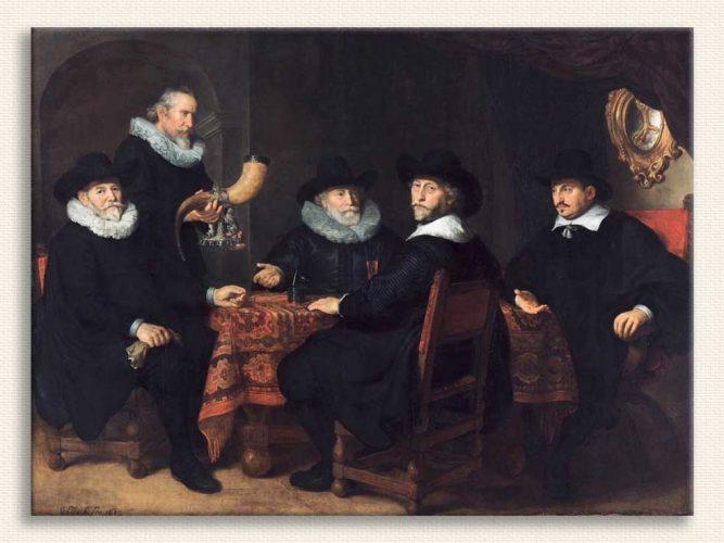 Govert Flinck Resmi Görevliler tablosu