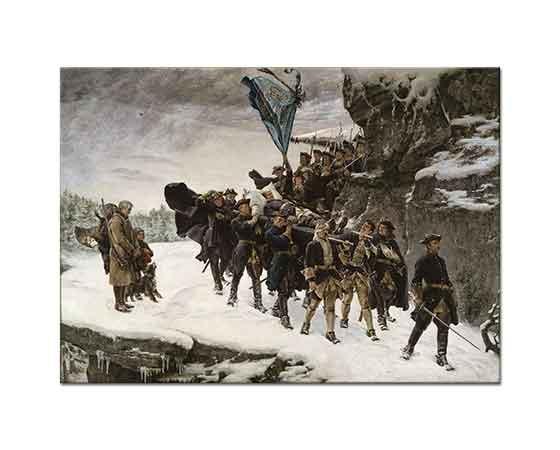 Gustaf Cederström Isveç Kralı XII Karl'ın Bedenini Vatanına Getirilişi