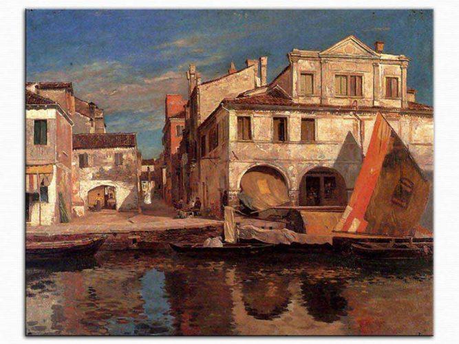 Gustav Bauernfeind Chioggia da Kanal