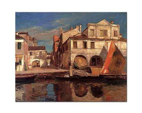 Gustav Bauernfeind Chioggia'da Kanal